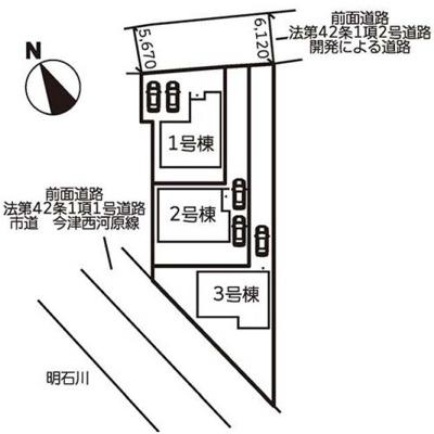 【区画図】神戸市西区玉津町今津 新築一戸建て