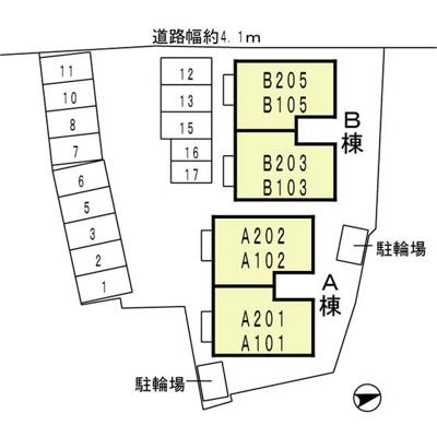 【区画図】メゾン プレミール A棟