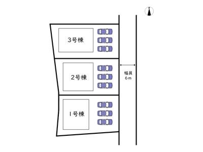 【区画図】たつの市龍野町日山 第5/全3棟