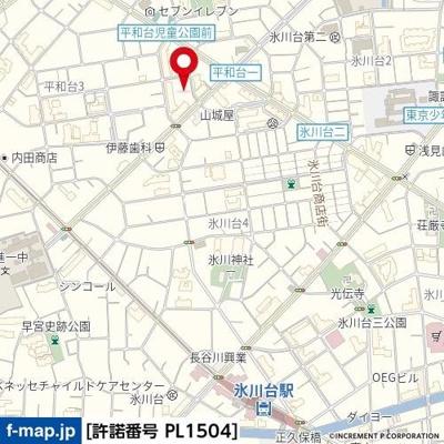 【地図】リガーレ プレズント 氷川台