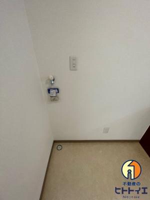 室内に洗濯機置き場ございます