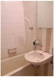 【洗面所】ライオンズマンション太子堂第2 南向き 室内洗濯機置場 光ファイバー