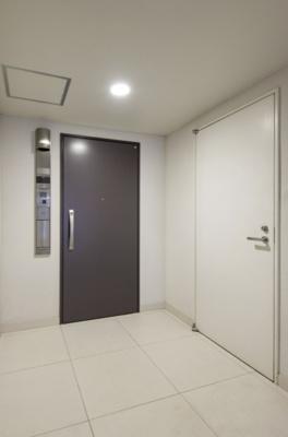 玄関ドアはプッシュプルハンドルで、両手が塞がっていても簡単に開閉できます。