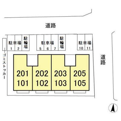 【区画図】セジュール小倉