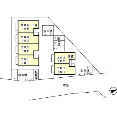 【区画図】セジュールハイツ Ⅱ