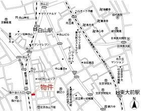 【地図】アール・ブリュット白山