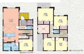 【間取り】高座郡寒川町全4棟 新築戸建 4号棟