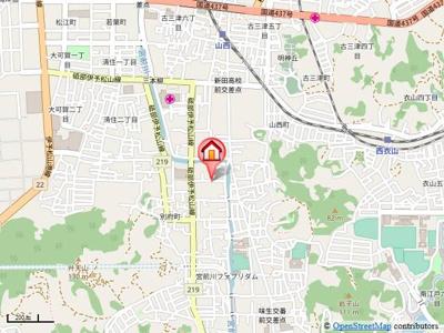 【地図】グランドソレイユ悠