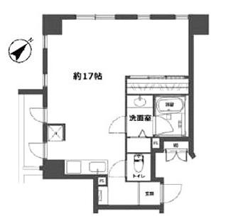 8階の開放的な角部屋の1LDK、自由なリノベーションが可能