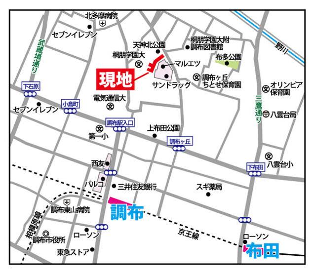 【地図】豊栄アンバサダー調布