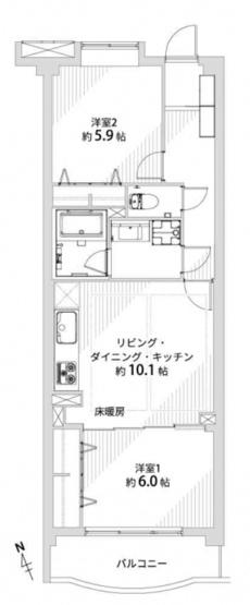 エクレールコート桜上水:各居室収納付き2LDK新規内装リノベーション物件です!