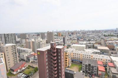 最上階14階からの眺望です。