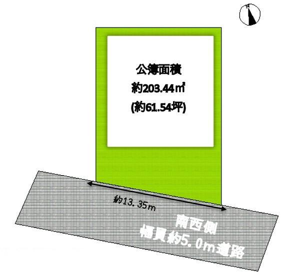 枚方市長尾東町3丁目 条件なし売り土地の画像