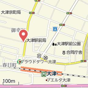 【地図】エルメゾン大津