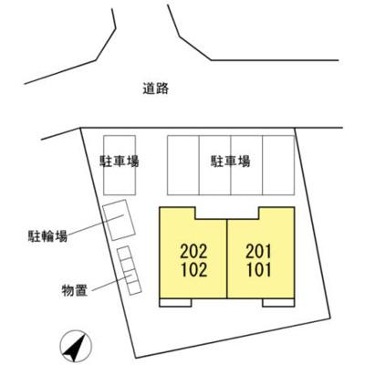 【区画図】ボンシック2番館