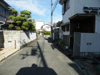 【前面道路含む現地写真】尼崎市武庫の里 売土地