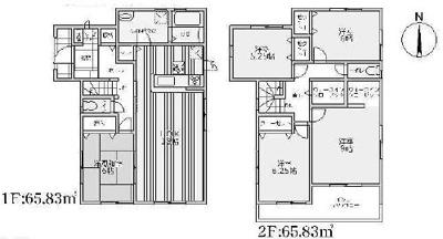 【区画図】箕面市瀬川1丁目 新築戸建 1号棟