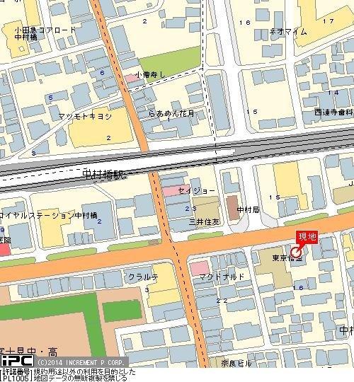 【地図】日神パレステージ中村橋