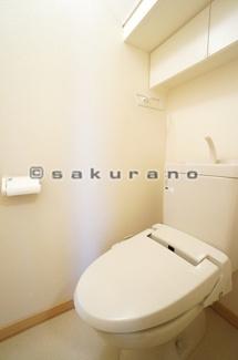 お掃除もラクラクな節水型トイレを設置※写真は同建物・同タイプ。