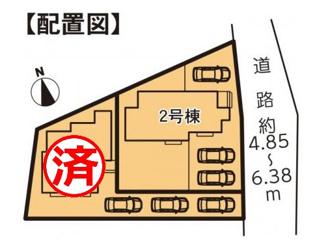 【区画図】富士市富士岡Ⅰ 新築戸建 全2棟 (2号棟)