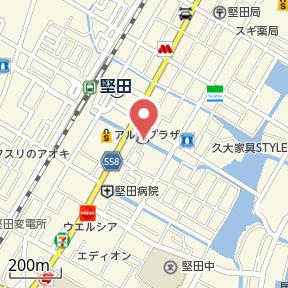 【地図】リビングタウン堅田A棟