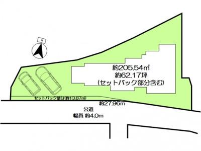 【区画図】本山北町6丁目F-1号地 新築戸建