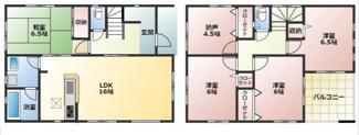 高浜市神明町第4新築分譲住宅13号棟間取りです