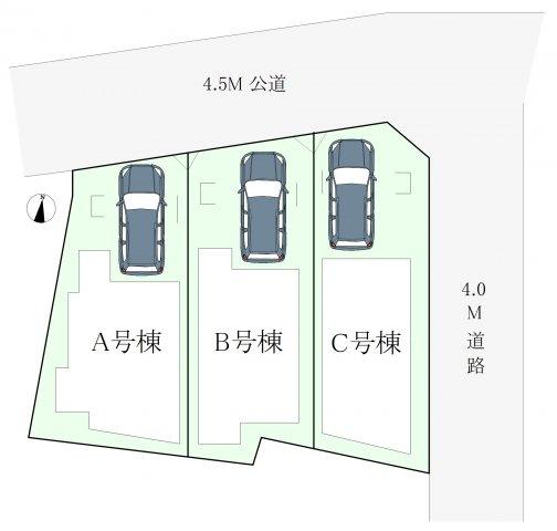 【区画図】北区豊島6丁目 全3棟 B号棟