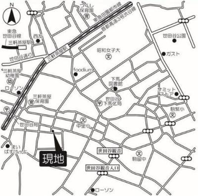 【地図】アルシェ ドゥ デザイナーズ 浴室乾燥機 オートロック