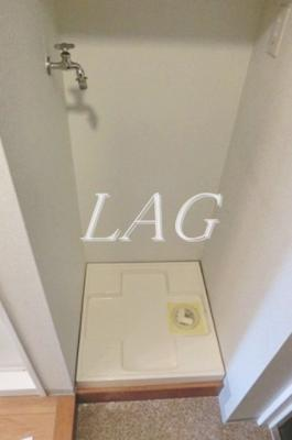室内洗濯置き場です。