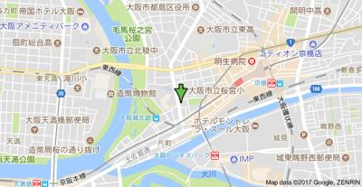【地図】セイワパレス大阪城北