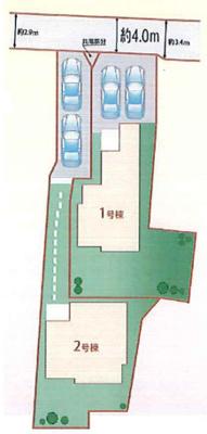 【区画図】東大阪市布市町3丁目 2号棟 新築戸建