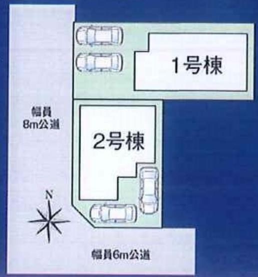 【区画図】松戸市第3常盤平 全2棟