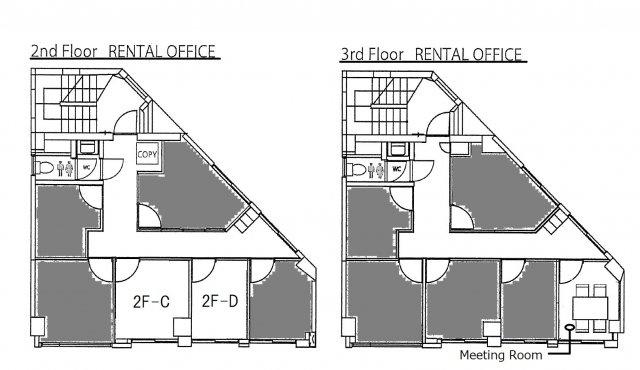 対象貸室は2F-D号室になります。
