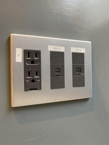 各室にエアコン1基設置済につき、個別空調利用可能