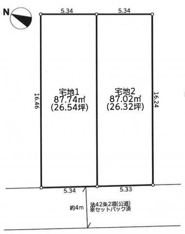 【土地図】仲介手数料無料 練馬区東大泉5丁目建築条件無売地
