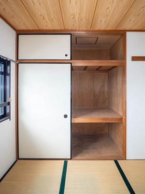 4.5帖和室の押入と天袋