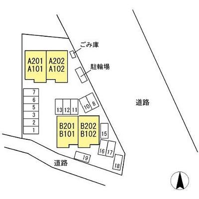 【区画図】アンファング21B棟