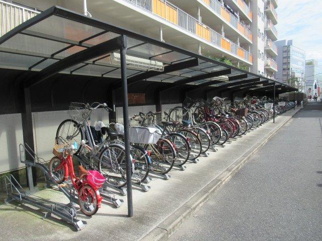 駐輪場です