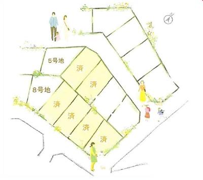【区画図】雄琴4丁目 8号地