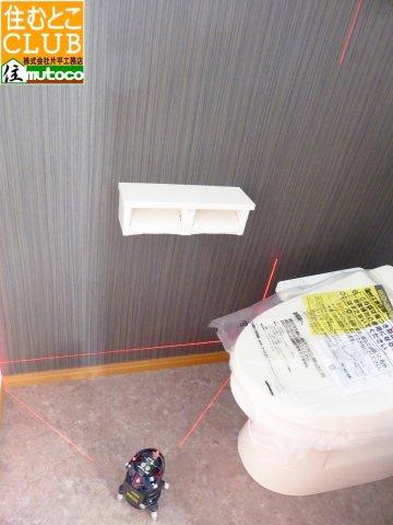 床のレベル・土地の不同沈下による傾斜は、レーザー測定器で確認して頂く事も可能です■片平工務店