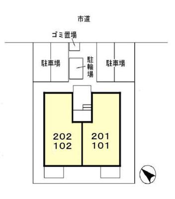 【区画図】フォンティーヌ大津ヶ丘