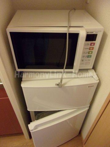 レオパレスアイリスの電子レンジ・冷蔵庫☆