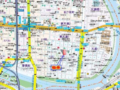 【地図】ラナップスクエア南森町