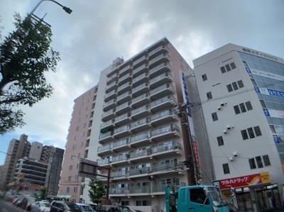 物件の外観です。12階建てのマンションです。