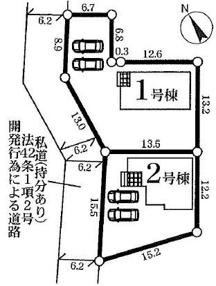 【区画図】堀町新築戸建 7期