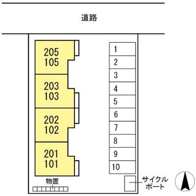 【区画図】(仮称)D-room東巌城町