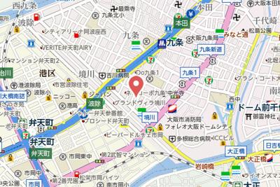 【地図】プレサンスOSAKA DOMECITYスクエア