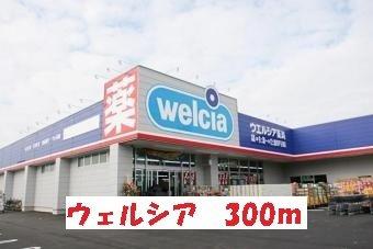 ウェルシア松戸五香店まで300m