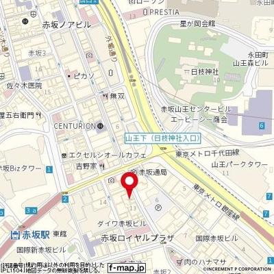 【地図】レックス赤坂レジデンス
